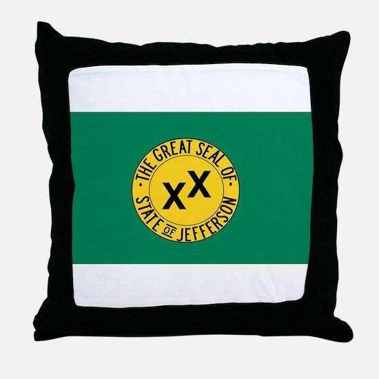 State of Jefferson Throw Pillow