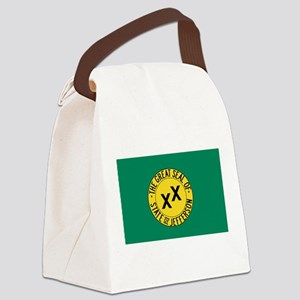 State of Jefferson Canvas Lunch Bag