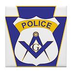 Masonic Police Officer  Tile Coaster