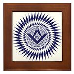 Masonic Blue Lodge Starburst Framed Tile