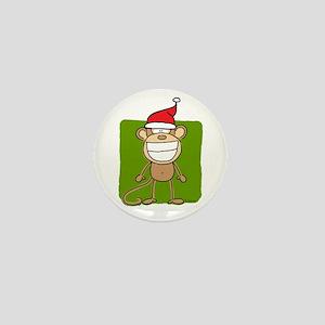 Christmas Monkey Mini Button