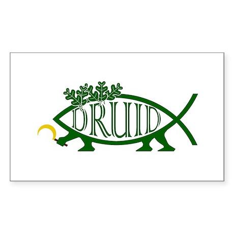 Druid Fish Rectangle Sticker