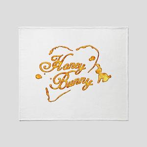 Honey Bunny Throw Blanket