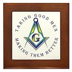Masonic Taking Good Men Framed Tile