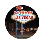 Las Vegas Sign pm - Holiday Ornament (Round)