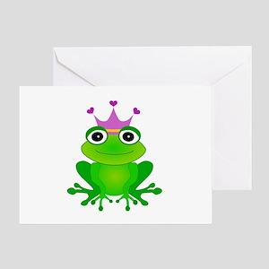 Frog prince greeting cards cafepress purple crown frog prince greeting card m4hsunfo