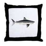 Salmon Shark f Throw Pillow
