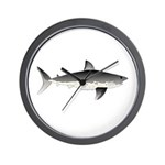 Salmon Shark f Wall Clock
