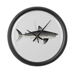 Salmon Shark f Large Wall Clock