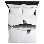 Salmon Shark f Queen Duvet