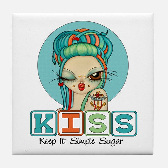 Keep It Simple Sugar Tile Coaster