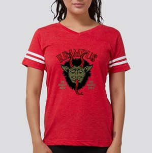 Krampus Face Naughty Womens Football Shirt