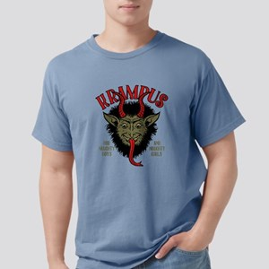 Krampus Face Naughty Mens Comfort Colors Shirt