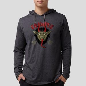 Krampus Face Naughty Mens Hooded Shirt