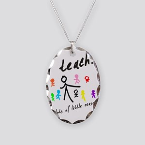 Teacher Necklace Oval Charm