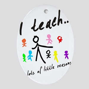 Teacher Oval Ornament