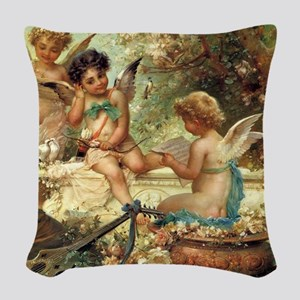 Victorian Angels by Zatzka Woven Throw Pillow