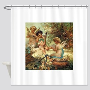 Victorian Angels by Zatzka Shower Curtain