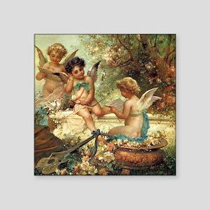 "Victorian Angels by Zatzka Square Sticker 3"" x 3"""