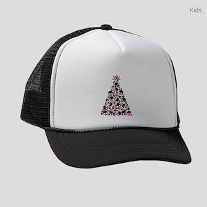 Gothic Skull Holiday Tree Kids Trucker hat