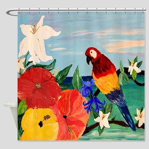 Parrot Garden Shower Curtain