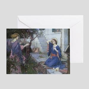 Annunciation by JW Waterhouse Greeting Card