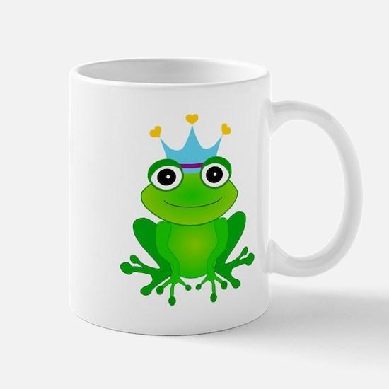 Blue Crown Frog Prince Mug
