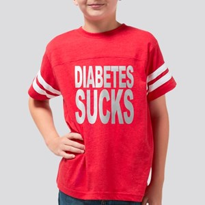 diabetessuckswht Youth Football Shirt