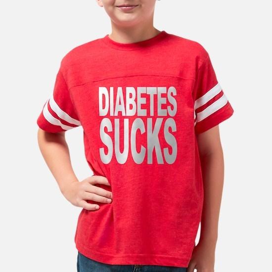 diabetessuckswht Youth Football Shirt