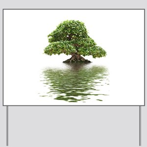 ficus water reflection Yard Sign