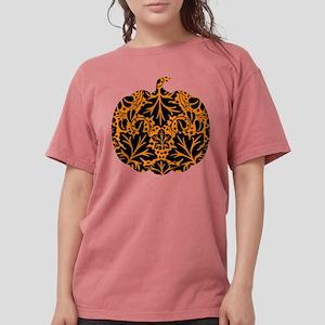 Damask Pattern Pumpkin Womens Comfort Colors Shirt