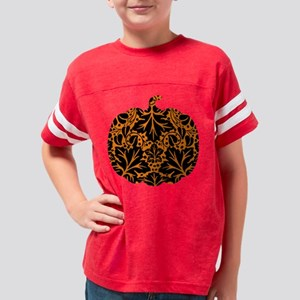Damask Pattern Pumpkin Youth Football Shirt