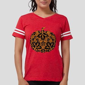 Damask Pattern Pumpkin Womens Football Shirt