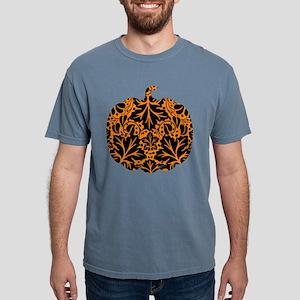 Damask Pattern Pumpkin Mens Comfort Colors Shirt
