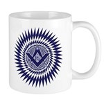 Masonic Starburst Crystal Mug