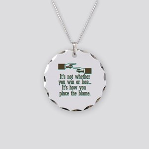 Funny Win or Lose Necklace Circle Charm