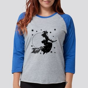 Old Fashioned Witch Womens Baseball Tee