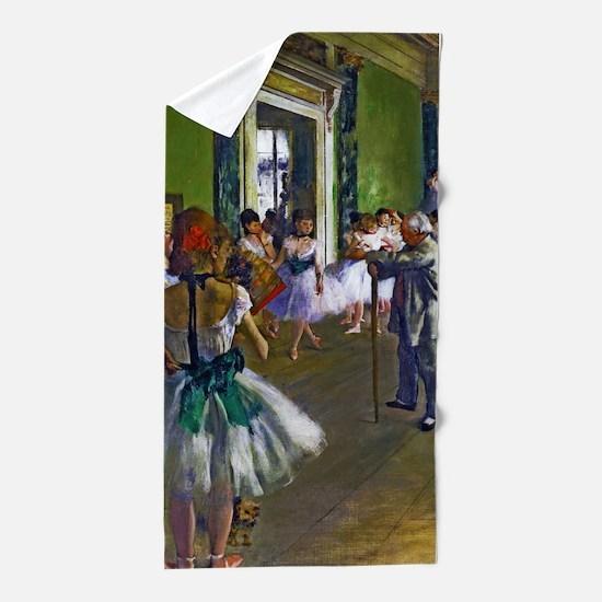 Degas - The Ballet Class Beach Towel