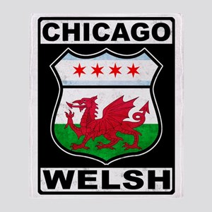 Chicago Welsh American Sign Throw Blanket