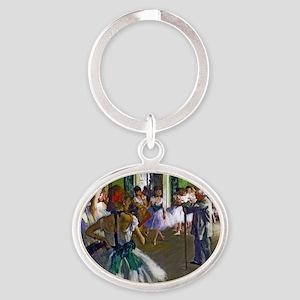 Degas - The Ballet Class Oval Keychain