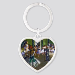Degas - The Ballet Class Heart Keychain
