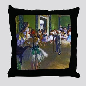 Degas - The Ballet Class Throw Pillow