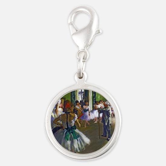 Degas - The Ballet Class Silver Round Charm