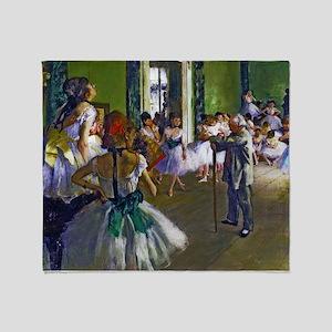 Degas - The Ballet Class Throw Blanket