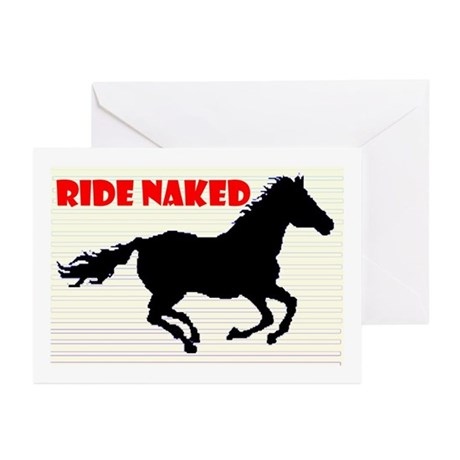 RIDE NAKED Greeting Cards (Pk of 10)