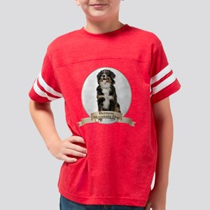 Bernese Mt. Dog Youth Football Shirt