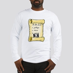 Pirate To Do List Long Sleeve T-Shirt