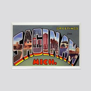 Saginaw Michigan Greetings Rectangle Magnet