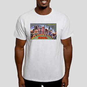 Saginaw Michigan Greetings (Front) Ash Grey T-Shir