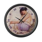 Grecian Girl 1908 - CLOCK Large Wall Clock